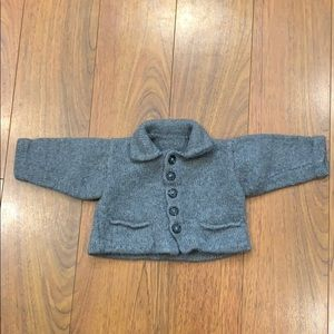 Other - Hand Made Grey Cardigan with Pockets 3 Months.